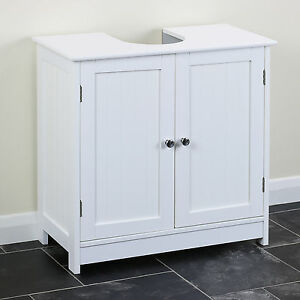 Image Is Loading Clic White Under Sink Storage Vanity Unit Bathroom