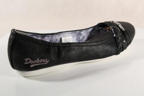 Neuf Dockers Chaussures Escarpins Mocassins Femme Noir Basses Ballerine 66frwq0