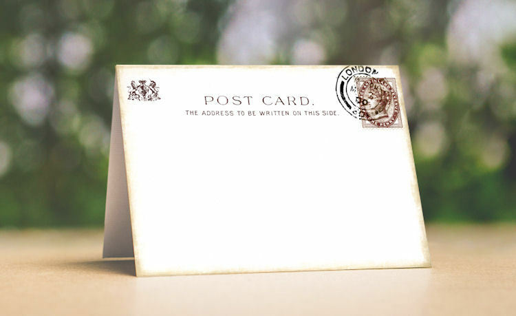 ENGLAND BRITISH POSTCARD TENT STYLE WEDDING PLACE CARDS or TABLE CARDS  529
