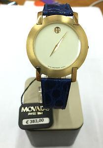 Orologio-movado-watch-nuovo-30-m-SWISS-pelle-blu-560702621-WATCH-blue-LEATHER