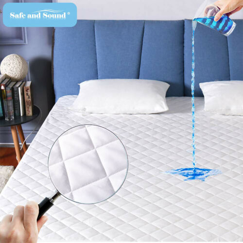 Waterproof Cooling Mattress Pad Quilted Deep Pocket Matress Topper Quilted Cover
