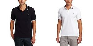 Fred-Perry-Men-039-s-Slim-Fit-Twin-Tipped-Polo-Shirt-NEW-Cotton-T-Shirt