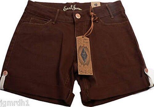 NWT EARL JEAN designer brown denim shorts celebrity designer  110 30 10