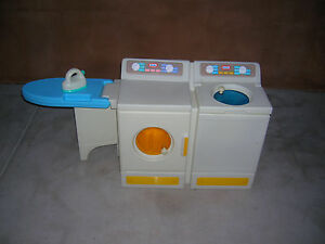 little tikes laundry center washer dryer ironing iron board complete kids size ebay. Black Bedroom Furniture Sets. Home Design Ideas