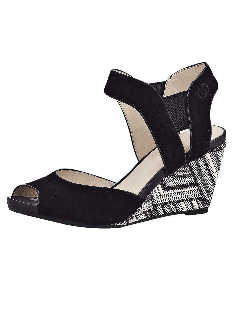 Sandalias zapatos de cuero keilsandalette gerry weber (6,5)
