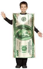 $100 Dollar Bill Child Costume Money Cash Boys Girls Halloween Funny One Hundred