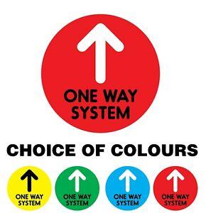 One WAY System Arrow Floor Stickers ANTI SLIP LAMINATION Social Distancing