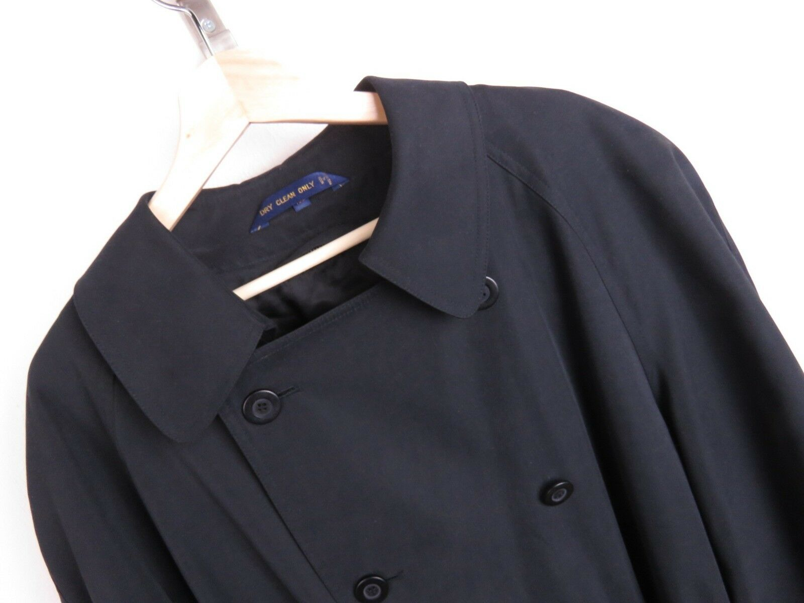 A250 CHAPS RALPH LAUREN COAT MAC TRENCH BELT VINTAGE DOUBLE BREASTED size 40S