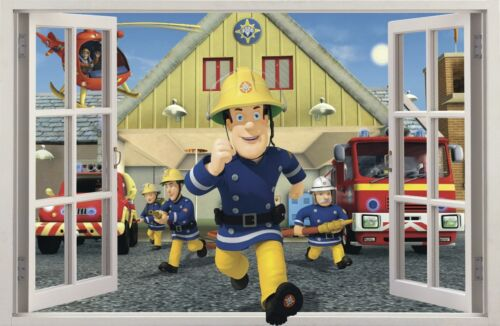 3D Effect Window Firefighter FIREMAN SAM decorative sticker to the room 47