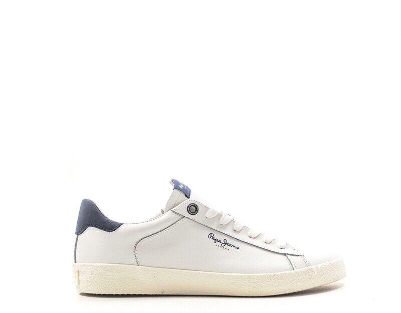 Pepe Jeans Schuhe Mann Turnschuhe Trendy Weiß Natural leder pms30435 -800