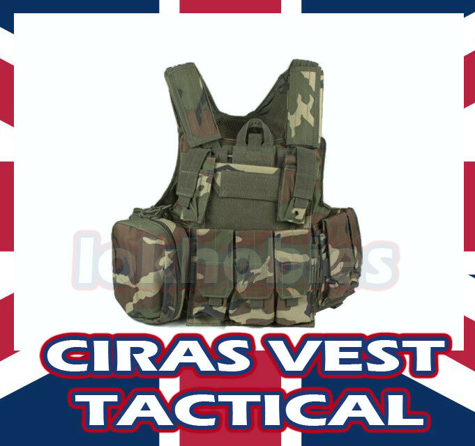 TACTICAL ASSAULT VEST CIRAS MOLLE airsoft AEG GBB NUOVO
