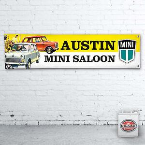 AUSTIN-MINI-advert-Banner-heavy-duty-workshop-garage-man-cave-1200x305mm