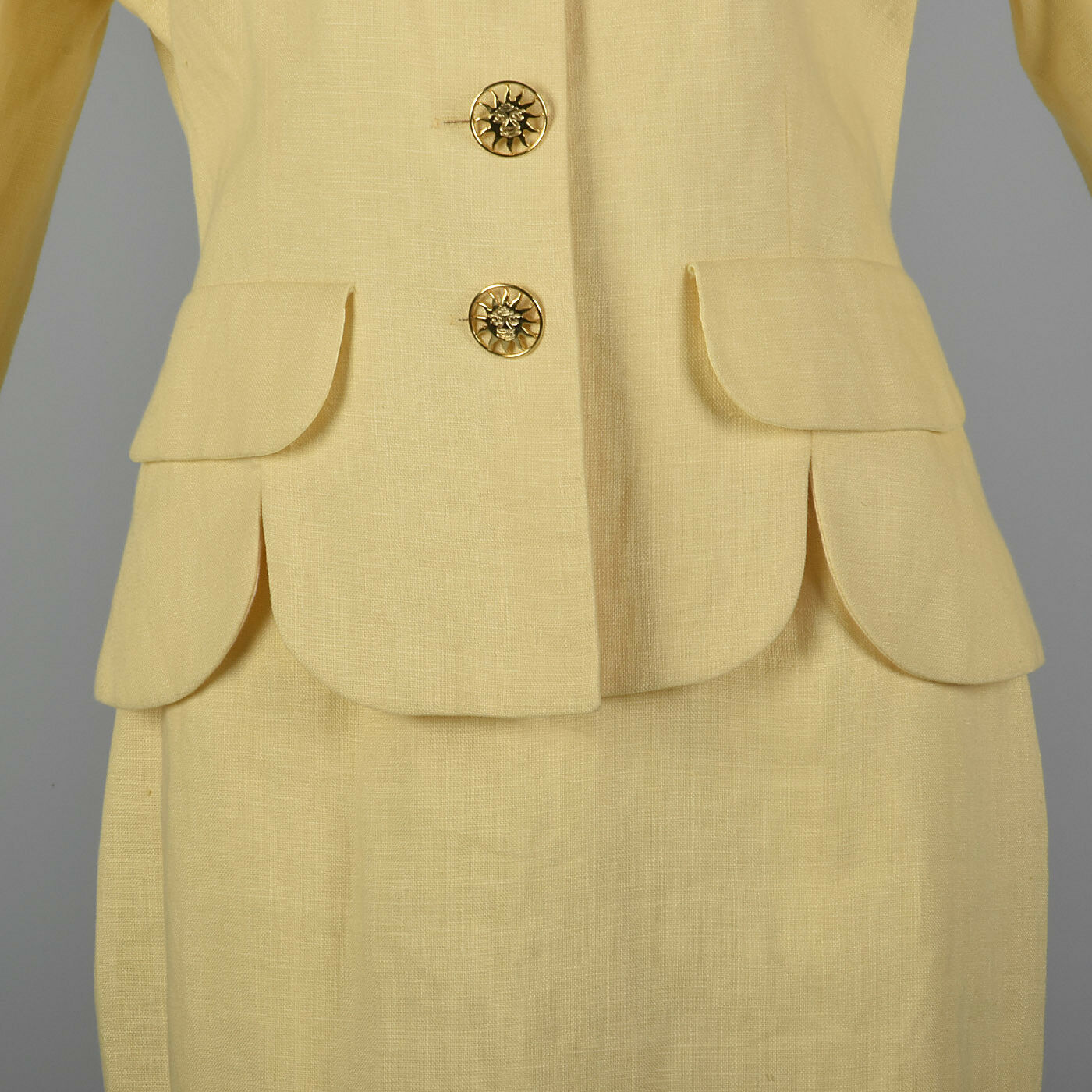 M 1990s Moschino Cheap & Chic Yellow Linen Suit S… - image 6