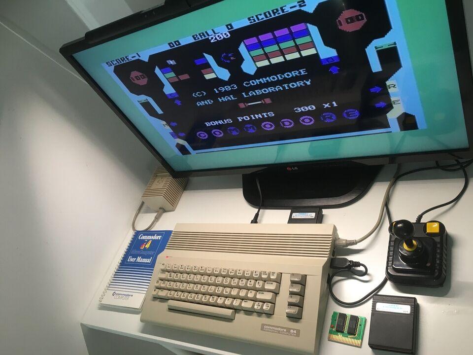 Lækker Commodore 64 i god stand, spillekonsol