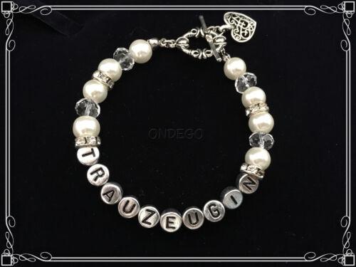 Trauzeugin Geschenk Armband Beste Freundin Buchstaben Hochzeit Brautschmuck