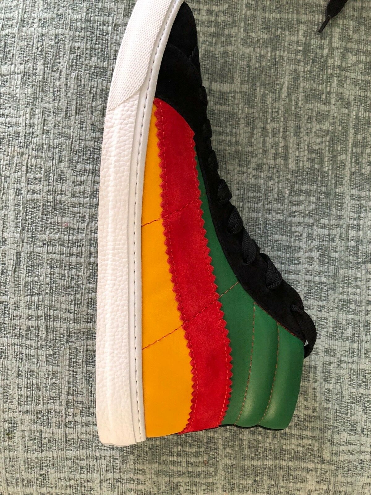 Paul Smith Lynn black Nappa   Suede black, green, yellow mix