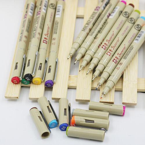 Superior Multicolours 0.5 Sketch Micro Pigma Fine Line Needle Pen for Cartoon