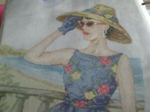 """summer Grace"" Cross Stitch Chart (uniquement)-afficher Le Titre D'origine"