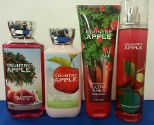 Country Apple Bath & Body Works FRAGRANCE MIST SPRAY LOTIONS Lot Of 4!