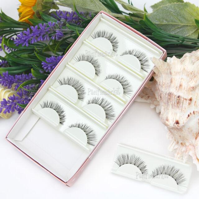 5 Pairs False Eyelashes Mink Hair Handmade Natural Eye Lashes Makeup Extension