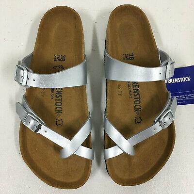 Birkenstock Mayari Silver Sandals EU 38 US 7 7.5 Women Regular 809410642912   eBay