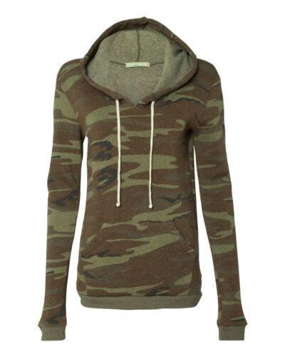 Alternative Ladies Eco-Fleece Athletics Hooded Pullover Sweatshirt 9596 S-XL