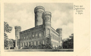 D-cranitz-A-griefs-1910-ungebr-S-W-Salut-de-AK-Jagdschloss-cranitz-Top-prescrira