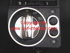 (Lc) Ring für Lichtschalter + Blende NSW Chrom matt Titan-Look BMW E36