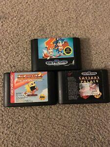 Sega-Genesis-3-Game-Bundle-Pac-Man2-Caesars-Palace-Sonic-The-Hedgehog2-Tested
