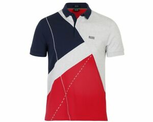 Paddy-Hugo-Boss-6-50404131-410-regular-FIT-Camisa-Polo-para-hombre-Azul-Multi-Superior