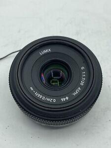 Panasonic Lumix G 20mm f/1.7 ASPH Lens for Micro Four Thirds - NMint USA