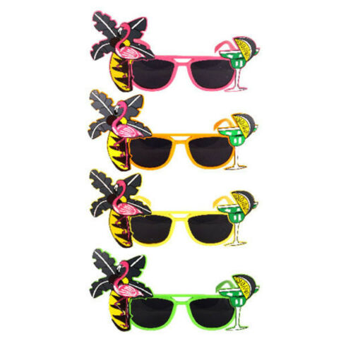 Fun Tropical Sunglasses Novelty Fancy Dress New Party Glasses Flamingo Cocktail