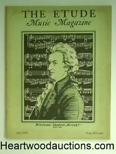 The Etude Jul 1937 Wolfgang Amadeus Mozart Cvr.