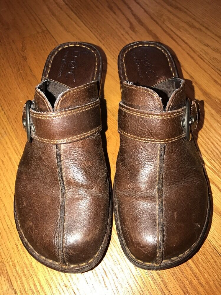 BOC Born Concept Horse Buckle Wedges Clogs Wedges High Heels Womens shoes Sz 6