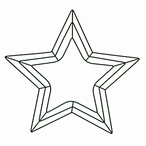 Image Is Loading Five Point Star Shaped Wreath Frame 18 Green