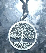 ALBERO della vita Ciondolo Collana, Peltro Celtico Pagano simbolo su un cavo 30mm