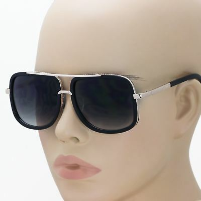 Mach Oversized Square Aviator Gold Metal Bar Men Designer Fashion Sunglasses