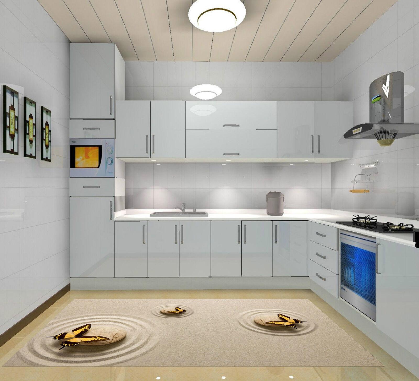 3D Papillon Pierre Sable 14 Décor Mural Murale De Mur De Cuisine AJ WALLPAPER FR