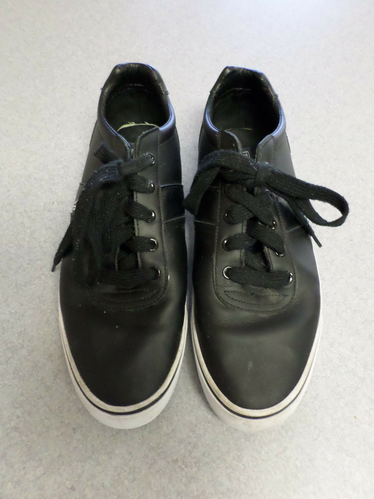 Ralph Lauren Polo black leather tennis shoes Men's 11 D