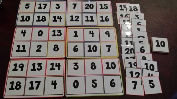 Numero Lotto/bingo-numero Di Riconoscimento - 0-20 - Eyfs Ks1 Bisogni Speciali Rafforzare L'Intero Sistema E Rafforzarlo