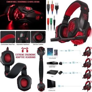 Cascos Gamer Auriculares Audifonos Gaiming Gaming Para PC Xbox One 360 PS3 PS4