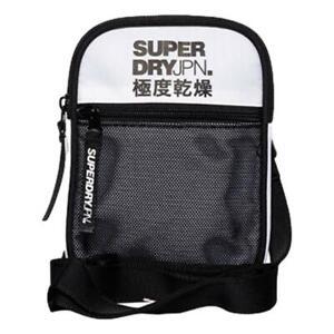 Superdry-Neuf-Homme-Sports-Pochette-Blanc-BNWT