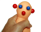PANIC PETE eyes BUG OUT Squeeze toy Stress Relief ball popping martian bob