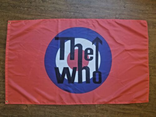 THE WHO FLAG BANNER 3X5FT BAND MUSIC ROCK AND ROLL GARAGE MANCAVE