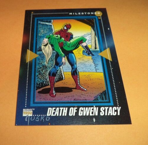 Death Of Gwen Stacy  # 197 1992 Marvel Universe Series 3 Base Impel Trading Card