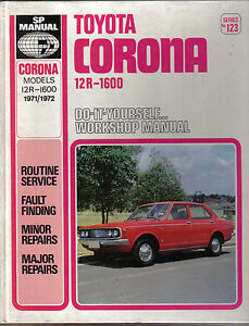 Toyota corona 12r 1600 1971 1972models diy sp workshop manual ebay image is loading toyota corona 12r 1600 1971 1972models diy sp solutioingenieria Image collections