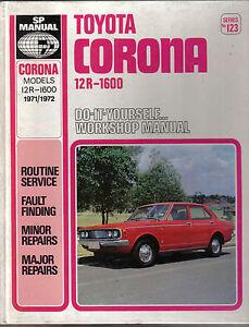 toyota corona 12r 1600 1971 1972models diy sp workshop manual ebay rh ebay co uk Toyota JZ Engine Toyota 22RE Engine Rebuild Diagrams