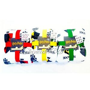 Harry-Potter-Hogwarts-Houses-Soft-Fleece-Throw-Blanket-120cm-x-150cm-Primark-New
