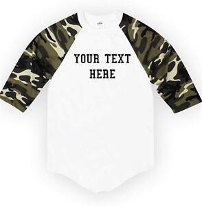 7c689b2f1 NW Personalized Custom 3/4 Sleeve BaseBall T-Shirts Raglan Create ...
