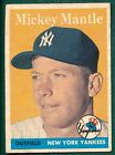 1958 Topps #150 MICKEY MANTLE FR/GD New York Yankees HOF